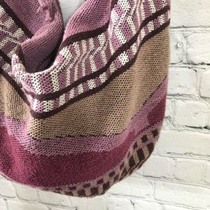 American Eagle Outfitters Bags - American Eagle Outfitters Woven Hobo Bag Purple